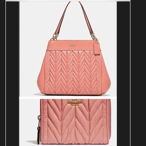 New Coach quilted Lexy  Purse with matching wallet